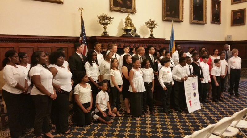 The City of Philadelphia announced the launch of the Philadelphia Music Alliance for Youth at City Hall.
