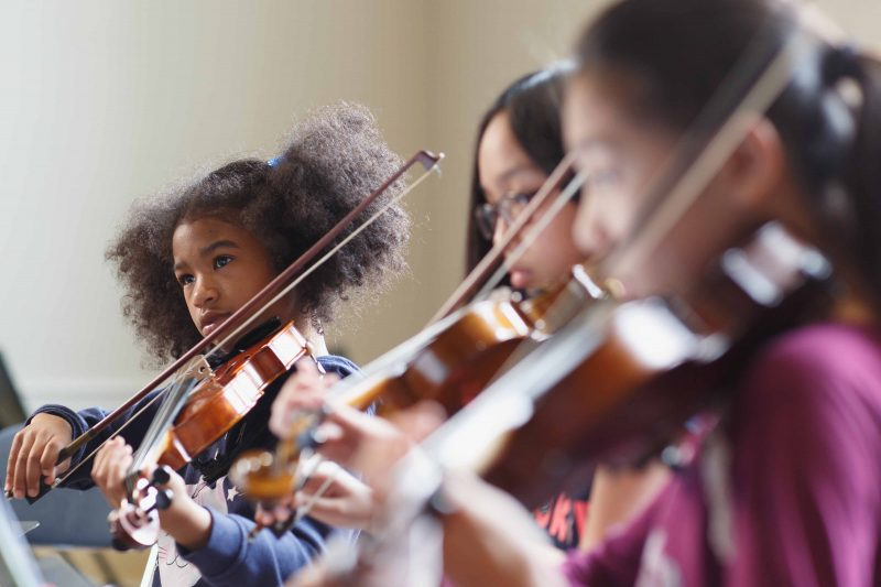 Orchestra rehearsal at the Mary Louise Curtis Branch