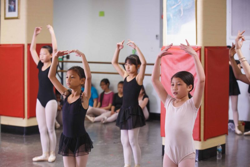 Settlement Music School dancers practice for an upcoming performance