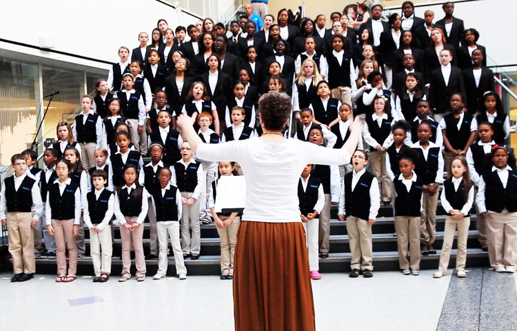 Students from the Gleeksman-Kohn Children's Choir perform at CHOP.