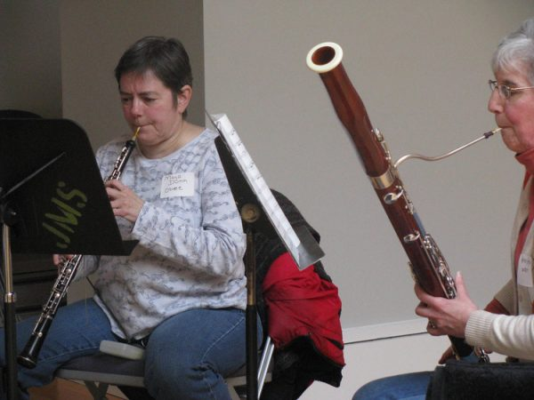The Adult Chamber Players rehearse at the Willow Grove Branch