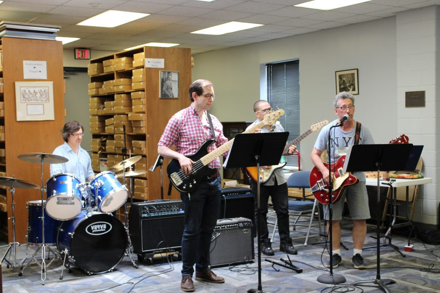 Adult Rock Band students practice at the Kardon-Northeast Branch.