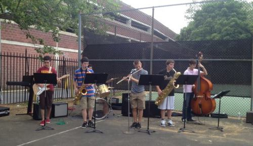 Settlement jazz students perform at the Spring Festival.
