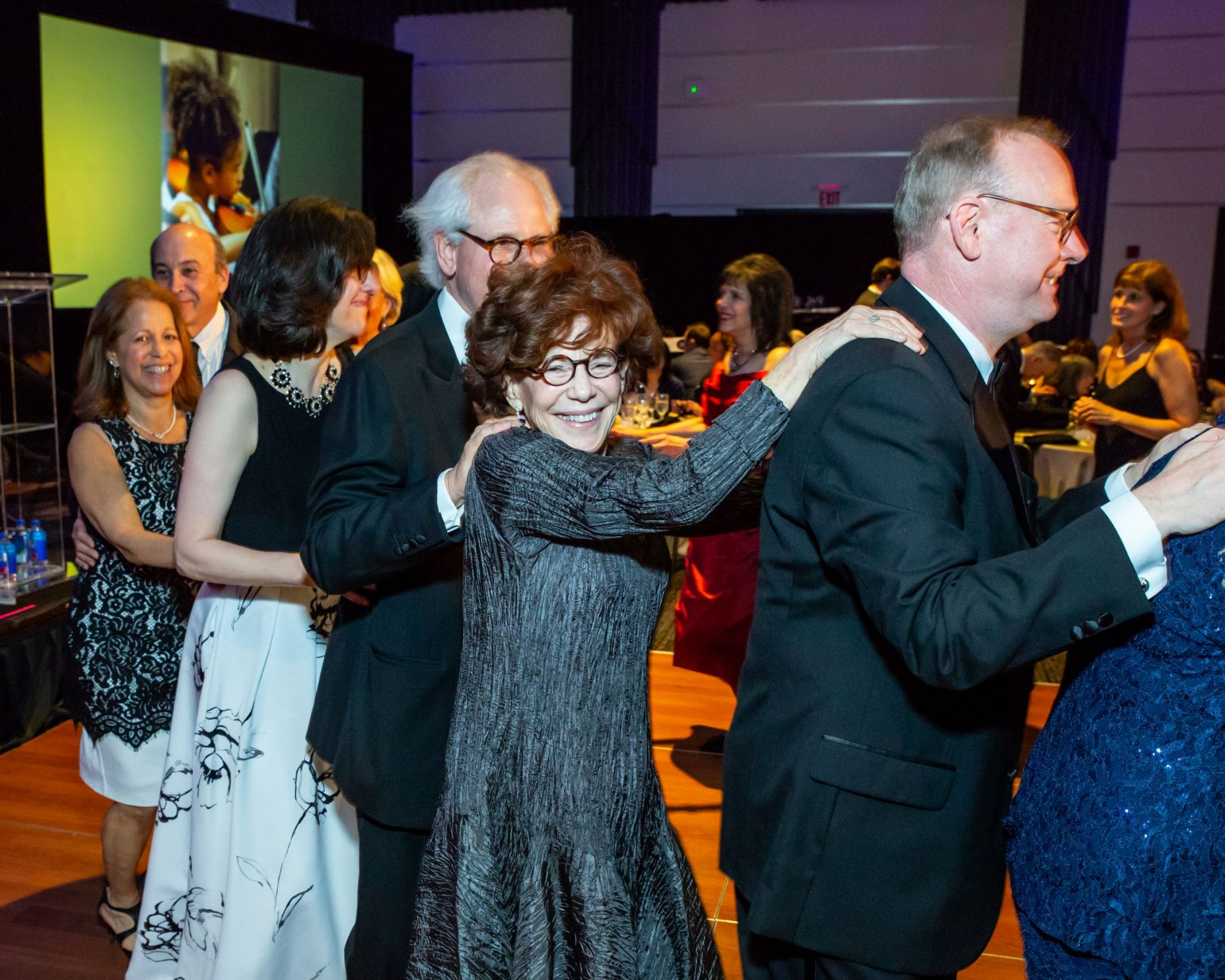 The conga line at the 110th Anniversary Gala