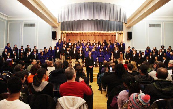 Students from the Gleeksman-Kohn Children's Choir perform
