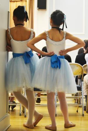Dance students watch their peers perform at the Mary Louise Curtis Branch