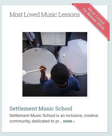 Settlement Music School won a 2019