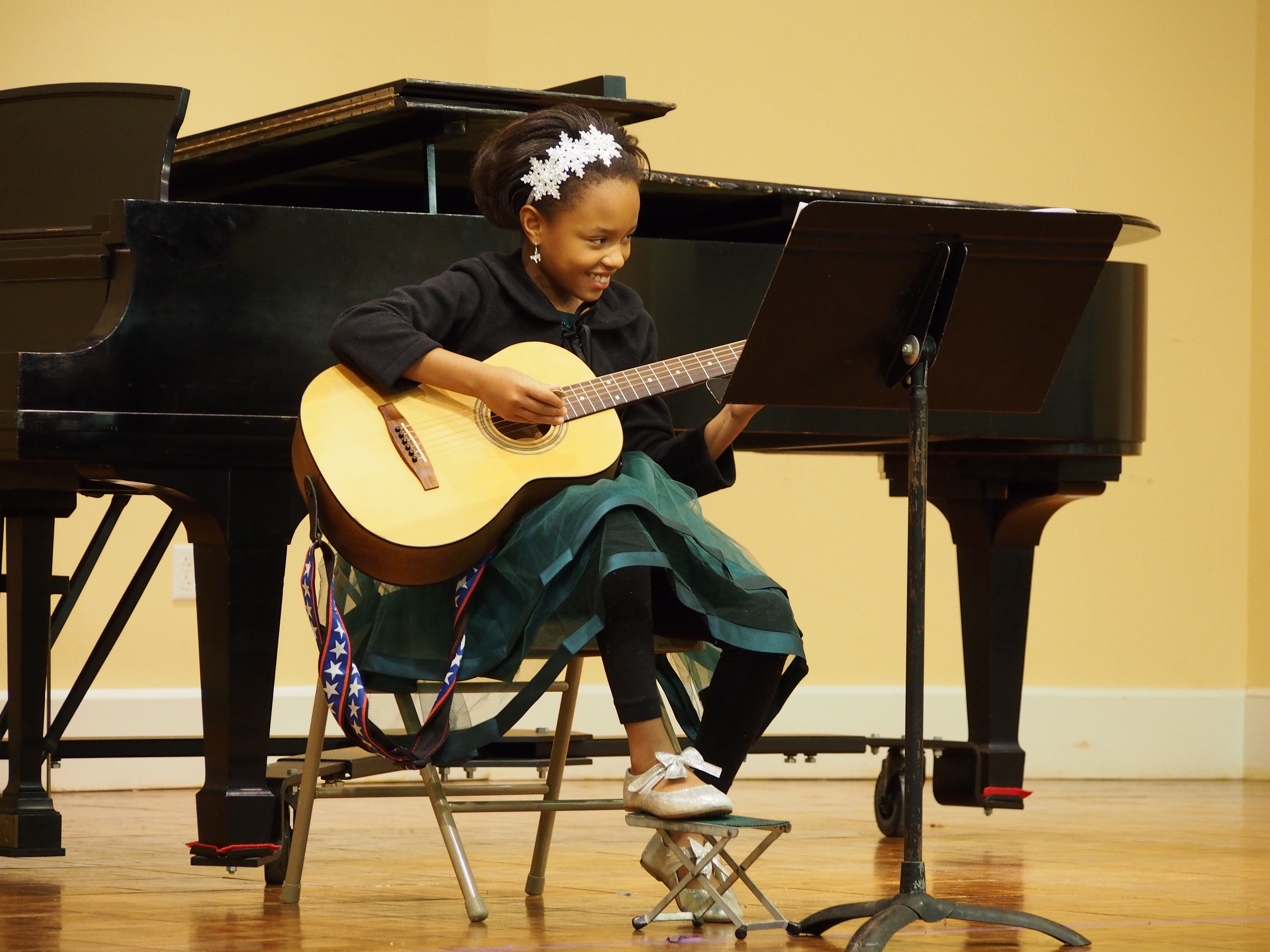 A Settlement Music School student performs at the Germantown Branch.