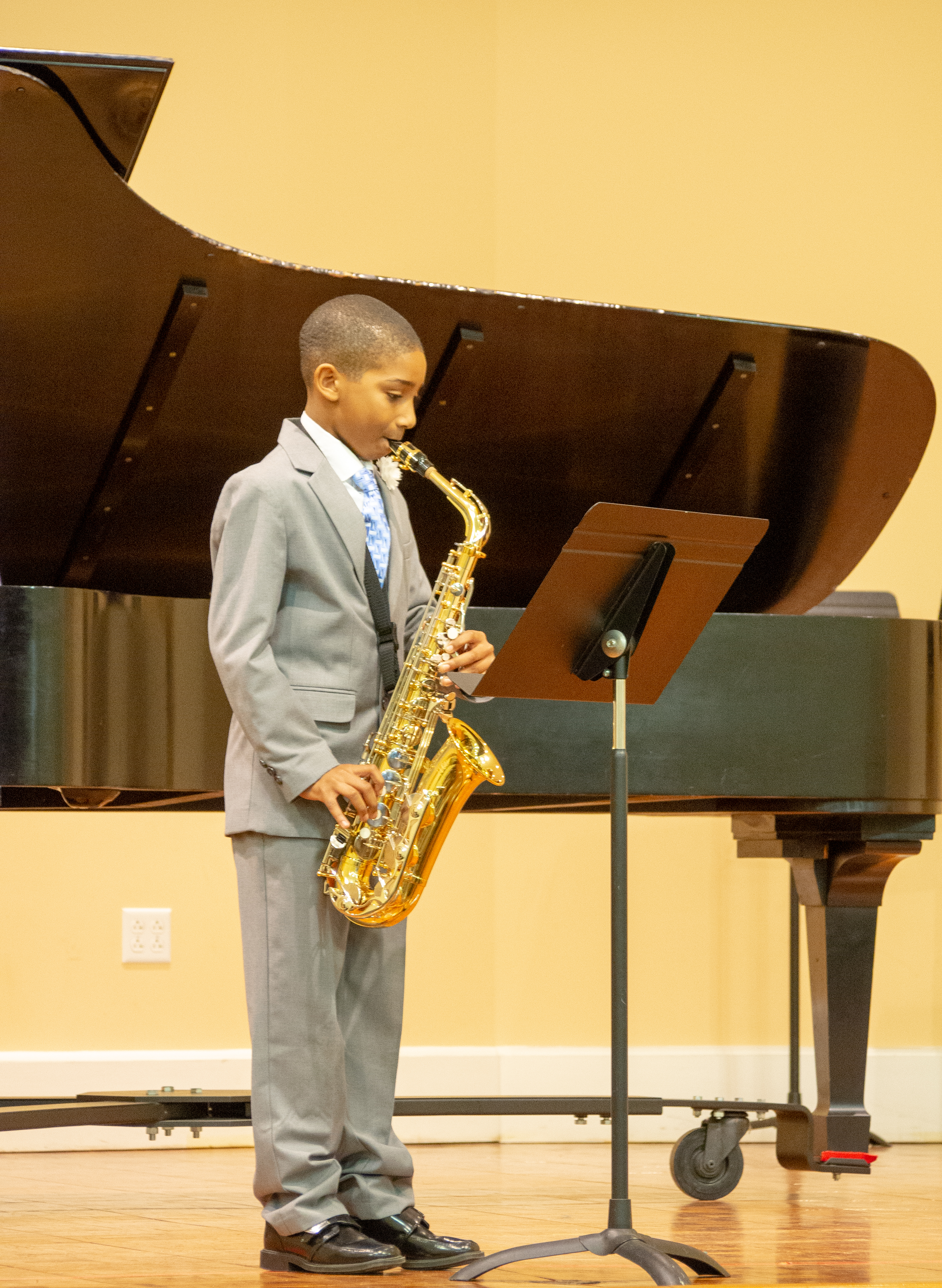 A Settlement Music School student performs at the Germantown Branch