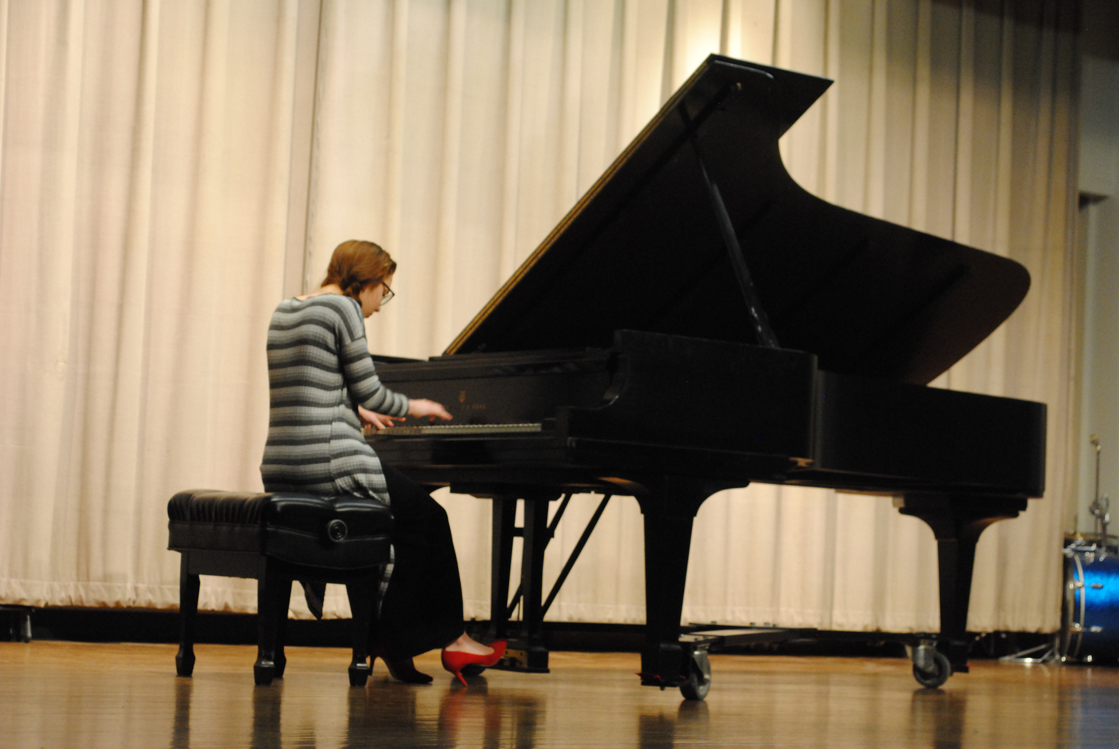 A Settlement Music School student performs at the Kardon-Northeast Branch