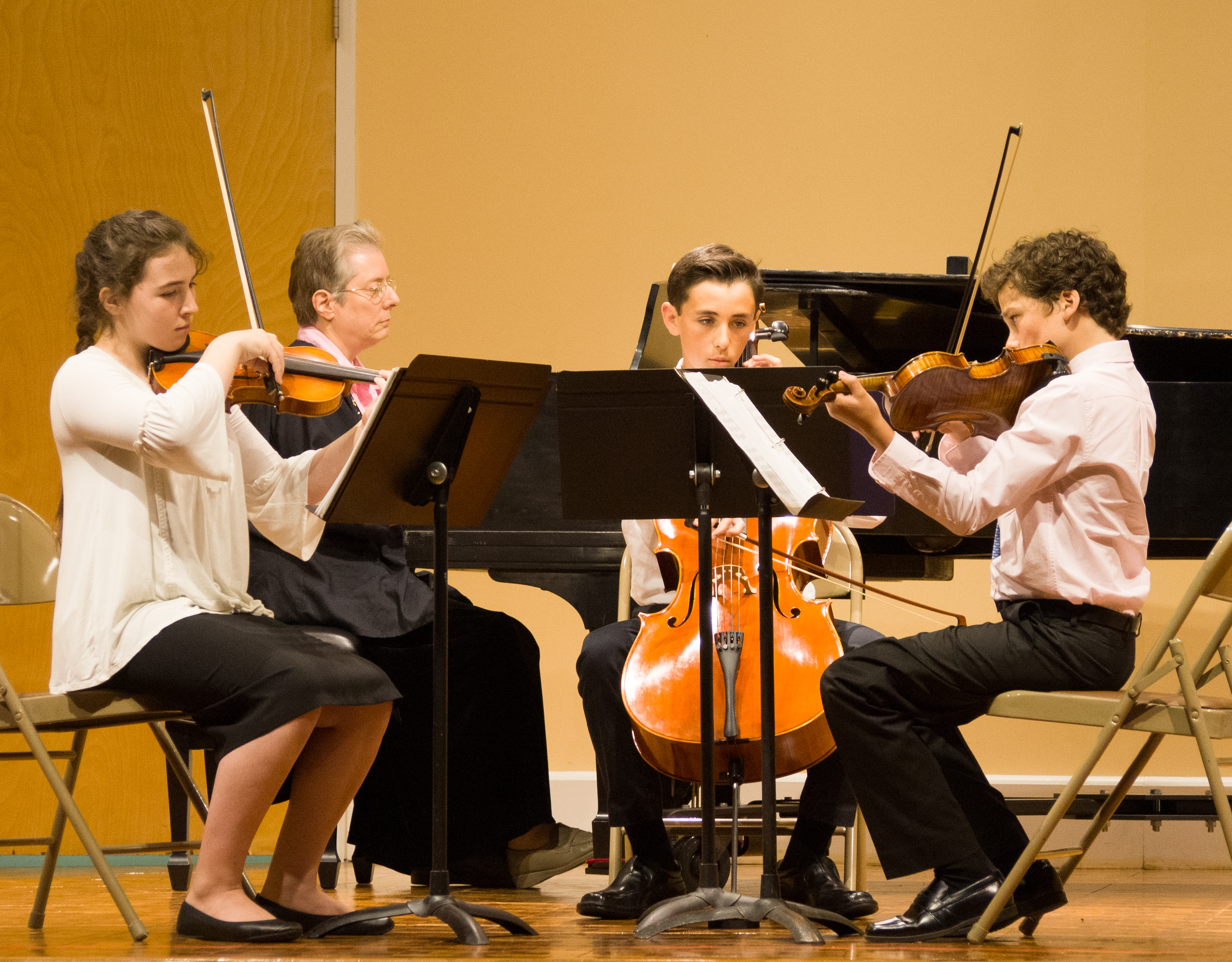 Chamber music ensemble coached by Jean Shook